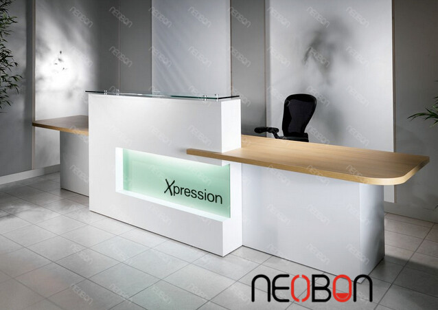 New style front office counter design, excutive desk front counter ...