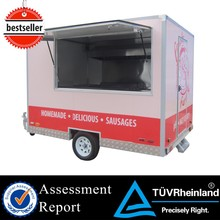 CE mobile food vans food truck manufacture electric tricycle fast food