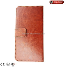 2015 brown color new leather case for samsung galaxy s6