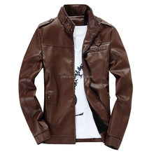Custom made artificial wool inside men's leather jackets