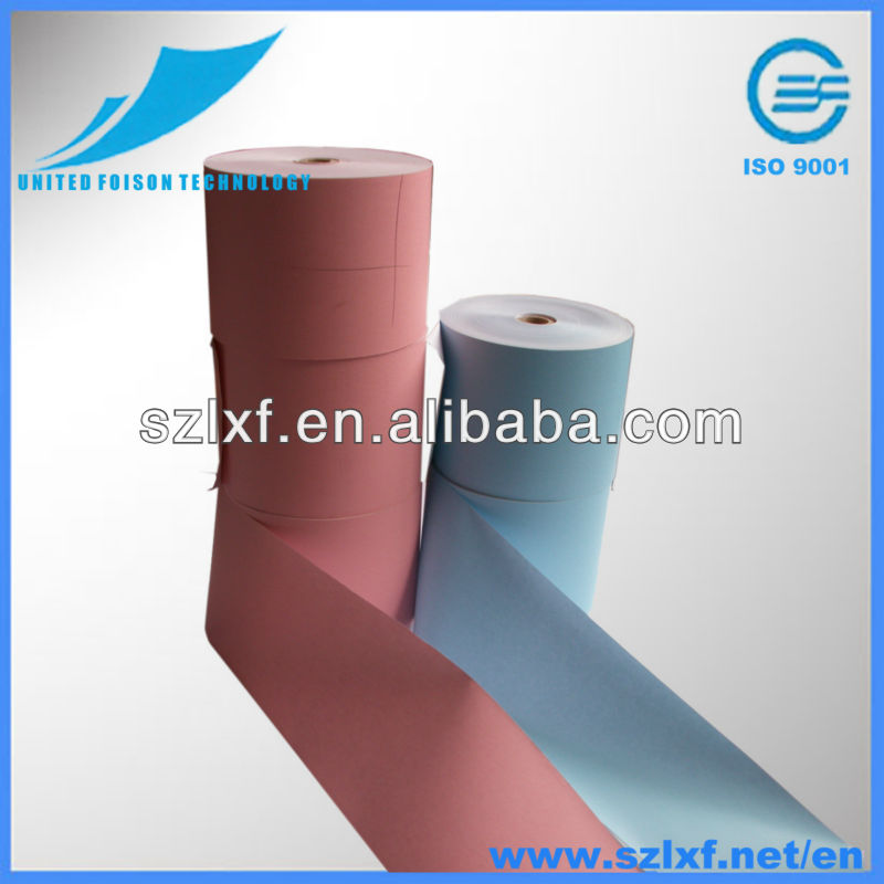 Color Thermal Paper Roll With Pink Blue Red Yellow Ammonia