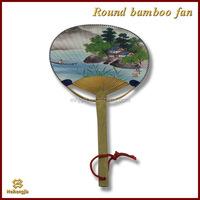 Newly hot selling bamboo handicrafts round fan