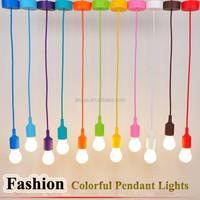 Multicolor Silicone pendant Chandelier lamp holder for edison bulbs lighting