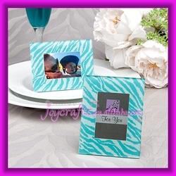 Wedding Table Decoration Aqua Blue Zebra Pattern Photo Frame Favors Place Card Holder