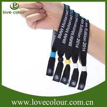 Top quality woven wristband wholesale textile bracelets with different hook