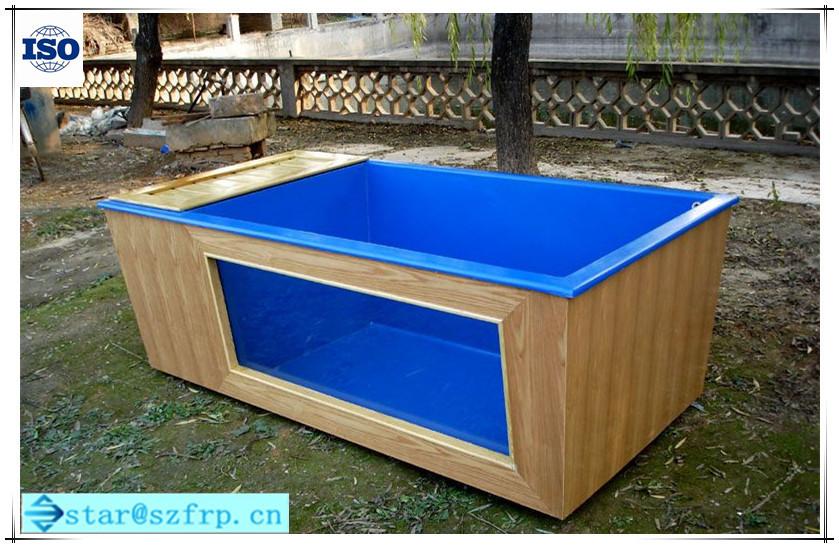 Frp fiberglass rearing pond industial aquaculture frp fish for Aquaculture fish tanks