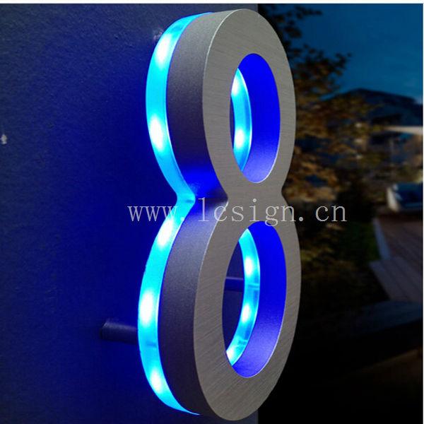 3D led advertising light box letter Backlit Mirror ...