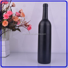 Wholesale 750ml frosted glass bottle of red wine with screw cap