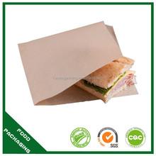 printed sandwich bags, brown sandwich bag, food grade sandwich bag