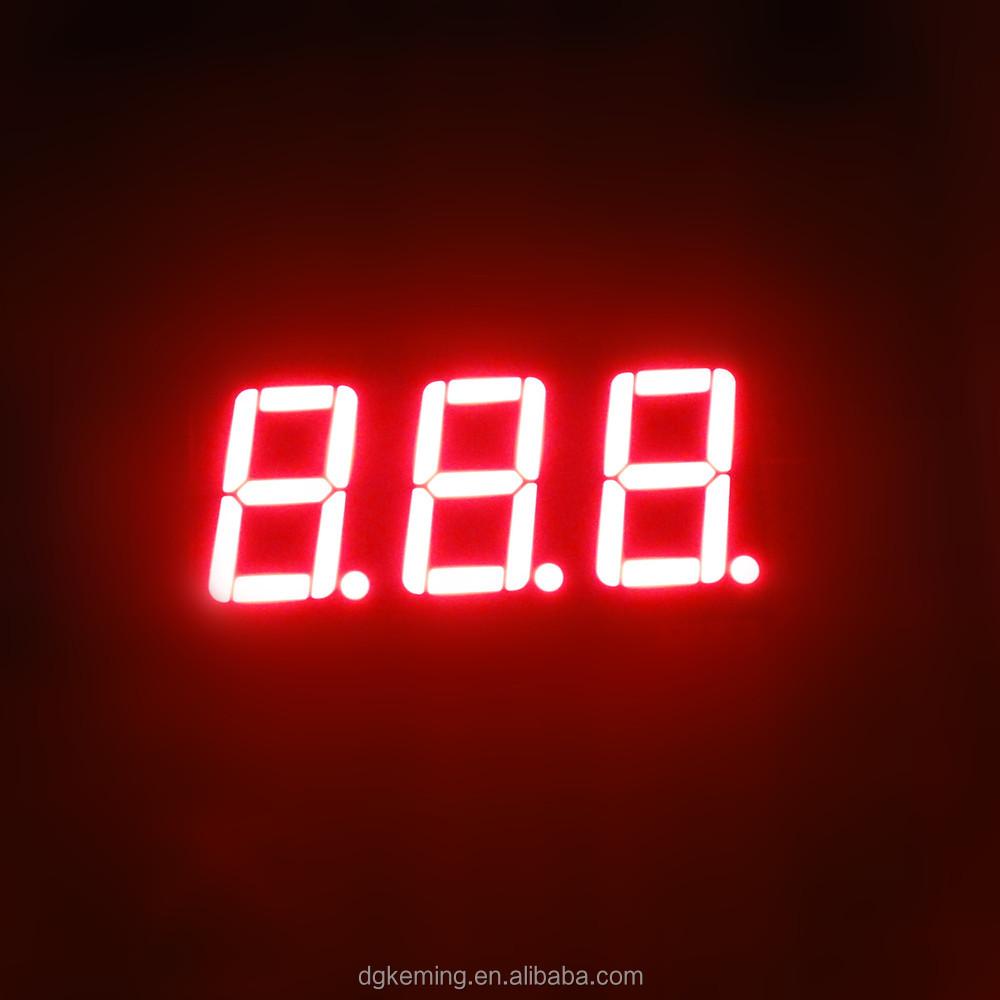 0.56 inch 3 digit super red 3 numbers led 7 segment led display