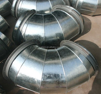 Air Ducting Galvanized Elbow 90 degree bend