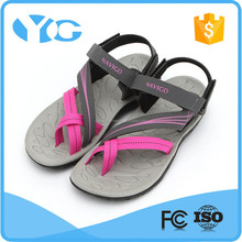 pu and fabric upper vietnam 3L rubber flat sandals for women