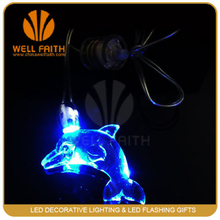 Halloween gift! Fashionable design LED lanyard nacklace