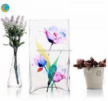 Unique Colored Opal Hand Blown Glass Vases