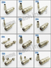 Sandblaster Used BV double end shutoff quick connect pneumatic fittings brass 5/16 banjo hydraulic fitting for hydraulic parts
