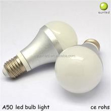 Shenzhen Sunled price high quality A50 E14 E27 B22 E26 christmas rgb new fashion led bulb
