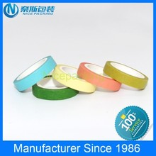10mmx20m colorful printed masking washi tape for gift packaging and decoration