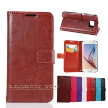 100% fit Case for Samsung Galaxy S6 edge Magnetic Wallet Leather Cover Case Factory Wholesale