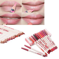 New 12 Colors Professional Makeup Long lasting Waterproof Lip Liner Pencils