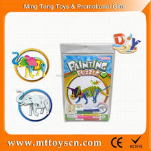 3D DIY painting puzzle toy animal designs diy toy