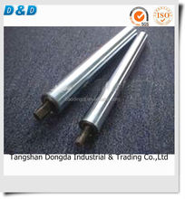 D&D 38mm dia spring loaded gravity stainless steel conveyor roller with galvanized steel end cap