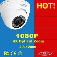Best ir night vision 1080p full hd zoom 2 megapixel p2p dome ip cctv camera POE FCC CE RoHS Certification