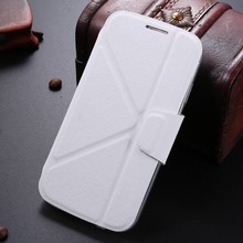 LETSVIEW Original Brand Luxury Flip Smart Leather Case Stand Durable Crystal Soft TPU Back Cover Shell for Samsung Galaxy S4