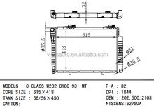 Oem 202.500.2103 DPI 1844 C-CLASS W202 C180 93 - MT para BENZ auto aluminio del radiador del coche fabricante de china
