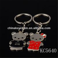 Fahion lovers bear shaped key chain
