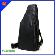 Hot new products for 2015 high quality vegetable chrome tanned lined leather chest bag, leather shoulder bag