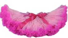 2015 baby dress , short hot pink with pink petticoat nylon soft fluffy summer spring skirt ,girls pettiskirt