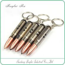 4 in 1 ballpoint pen keychain LED/ plastic short ballpoint Bullet laser Pen