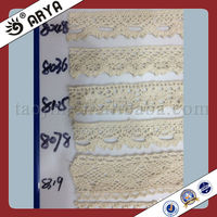 2014 Summerr Hotsell Becautiful Cream Curtain Lace Table Fringe Cotton Lace Yarn For Carpet Fringe