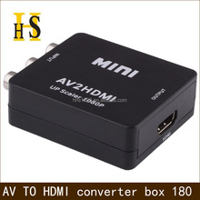 factory price av to hdmi converter for dvd to hdtv projector rca to hdmi converter 720P 1080P high quality av 2 hdmi converter