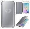 2015 new arrival smart flip cover Mirror case for samsung galaxy s6 edge mirror phone case
