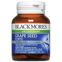 Blackmores Grape Seed Forte Dietary Health Supplement Antioxidant Helping you to maintain elastin in the skin (30 Tablets)