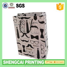 Hot sale style shinny silver foil logo shopping bag packaging