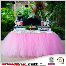 Handmade table cloth wedding/party tulle table skirt