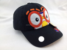 Soonest delivery Black Baby Baseball cap face cap with applique logo custom baby baseball cap for summer