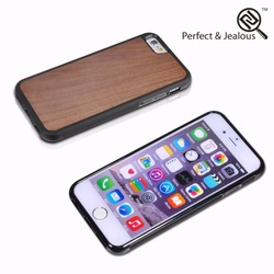 Hot sale Natural wood plastic hard phone case for iphone 6