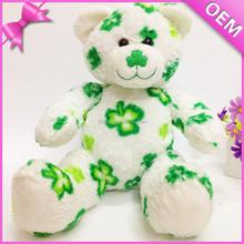 Direto da fábrica china nomes para ursos de pelúcia stuffed plush verde teddy bear