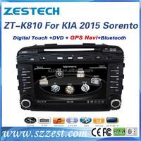ZESTECH factory 8 inch double din Autoradio with GPS for KIA SORENTO 2015 car parts with car gps receiver