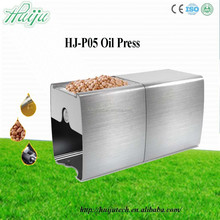 high quality guarantee mini oil press machine for peanuts,sesame,nuts,sunflower oil,olive,soybean made in china HJ-P05