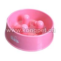 Plastic raised dog bowl/pet feeders/cat bowl FS019
