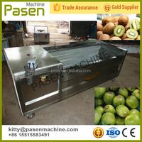 Stainless steel vegetable and fruit washing peeling machine / vegetable washer peeler / potato washer and peeler