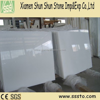 China Natural Stone Polished Pure White Marble Tile