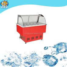 self defrost curved glass gelato freezer for sale