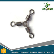 High quality stainless steel O-shape three way rolling fishing swivel