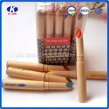 2015 hot sale promotional ball pen/ Modelling of lipstick wood ball pen/for school and office