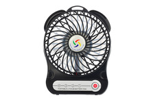 hand-held Lithium ion batteries led mini fan promotion fan with low price